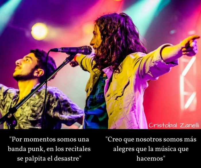 _A veces somos una banda punk, arriba del escenario se palpita el desastre_